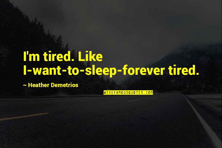 Want to sleep quotes
