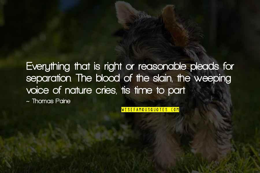 Tis Quotes By Thomas Paine: Everything that is right or reasonable pleads for