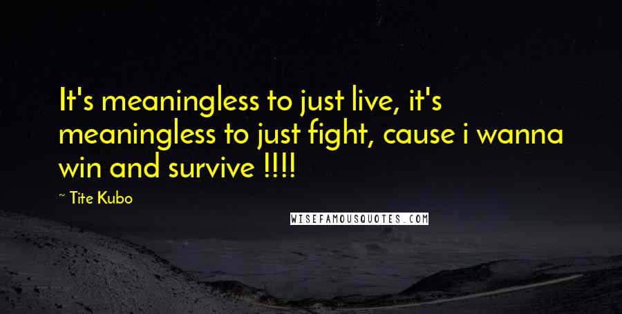 Tite Kubo quotes: It's meaningless to just live, it's meaningless to just fight, cause i wanna win and survive !!!!