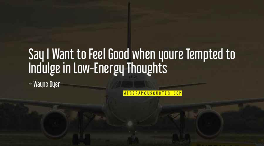 To Feel Good Quotes By Wayne Dyer: Say I Want to Feel Good when youre
