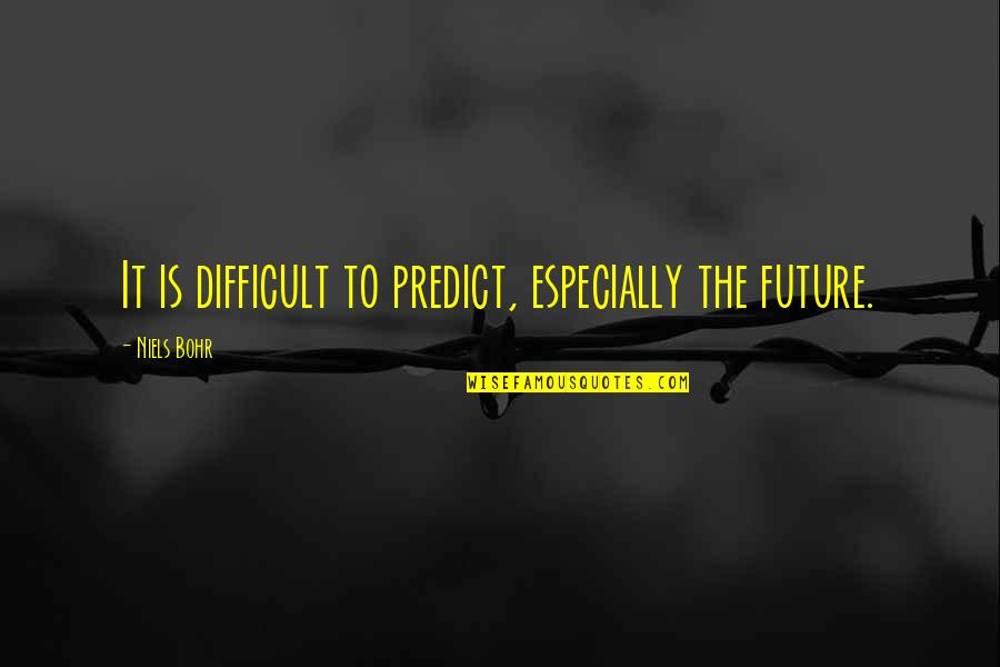 To Predict The Future Quotes By Niels Bohr: It is difficult to predict, especially the future.