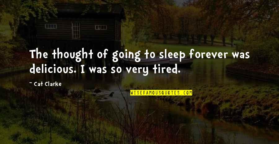 To Sleep Quotes By Cat Clarke: The thought of going to sleep forever was