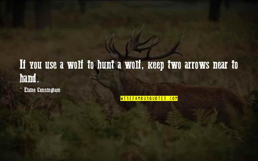 Toby Harrah Quotes By Elaine Cunningham: If you use a wolf to hunt a