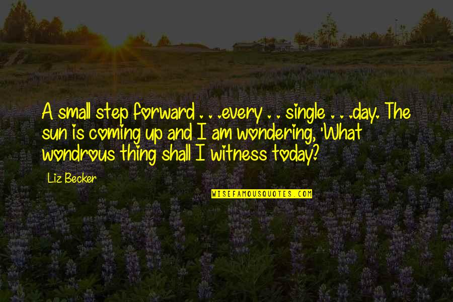 Today Is Your Day Inspirational Quotes By Liz Becker: A small step forward . . .every .