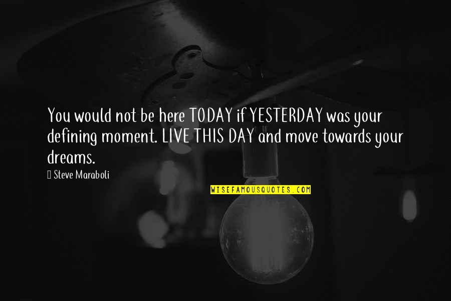 Today Is Your Day Inspirational Quotes By Steve Maraboli: You would not be here TODAY if YESTERDAY