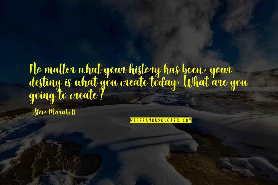 Today Is Your Day Inspirational Quotes By Steve Maraboli: No matter what your history has been, your