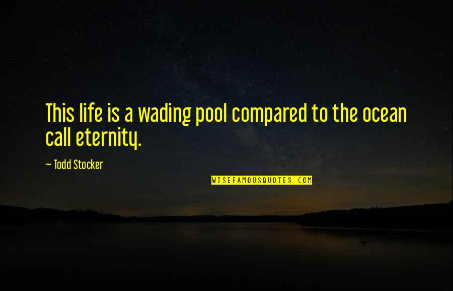 Todd Stocker Quotes By Todd Stocker: This life is a wading pool compared to