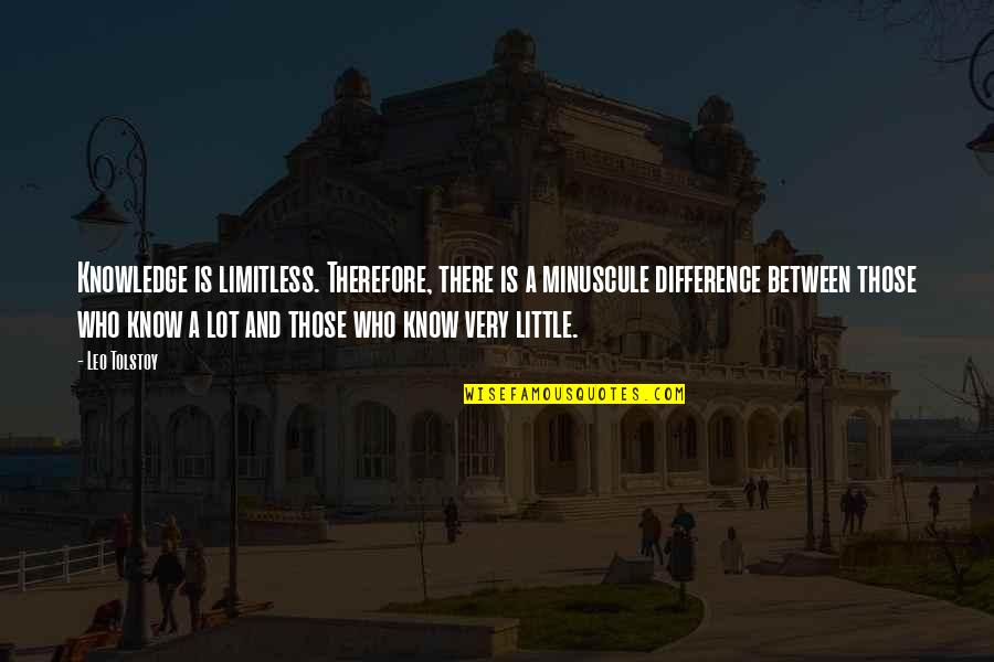 Tolstoy Quotes By Leo Tolstoy: Knowledge is limitless. Therefore, there is a minuscule