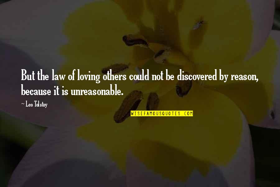 Tolstoy Quotes By Leo Tolstoy: But the law of loving others could not