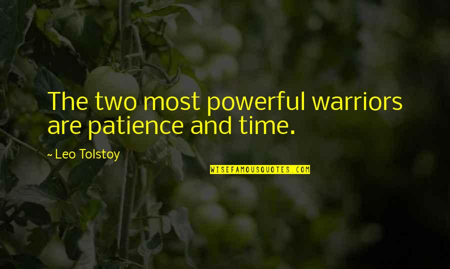 Tolstoy Quotes By Leo Tolstoy: The two most powerful warriors are patience and