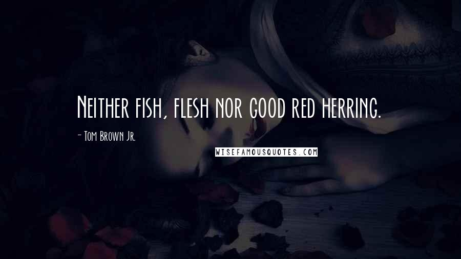 Tom Brown Jr. quotes: Neither fish, flesh nor good red herring.