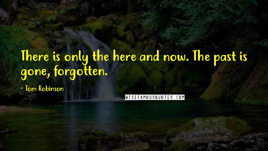 Tom Robinson quotes: There is only the here and now. The past is gone, forgotten.