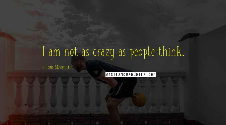 Tom Sizemore quotes: I am not as crazy as people think.