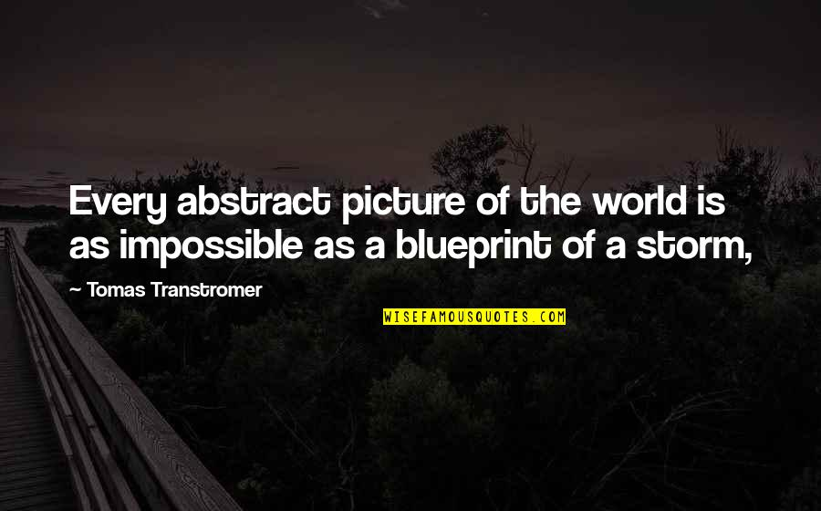 Tomas Quotes By Tomas Transtromer: Every abstract picture of the world is as