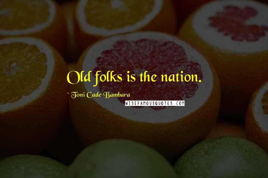 Toni Cade Bambara quotes: Old folks is the nation.