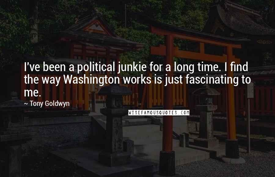 Tony Goldwyn quotes: I've been a political junkie for a long time. I find the way Washington works is just fascinating to me.