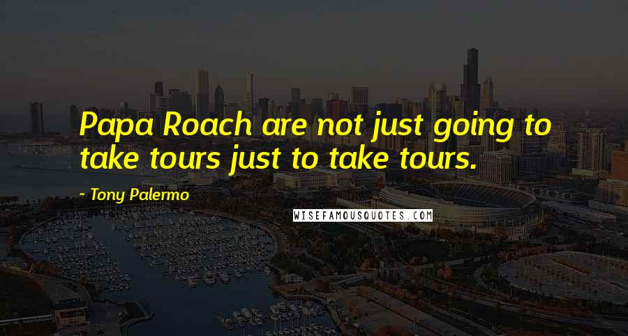 Tony Palermo quotes: Papa Roach are not just going to take tours just to take tours.