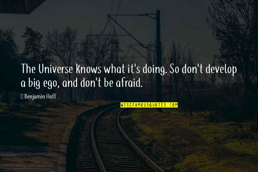Too Big Ego Quotes By Benjamin Hoff: The Universe knows what it's doing. So don't