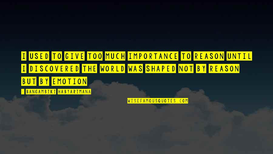 Too Much Power Quotes By Bangambiki Habyarimana: I used to give too much importance to