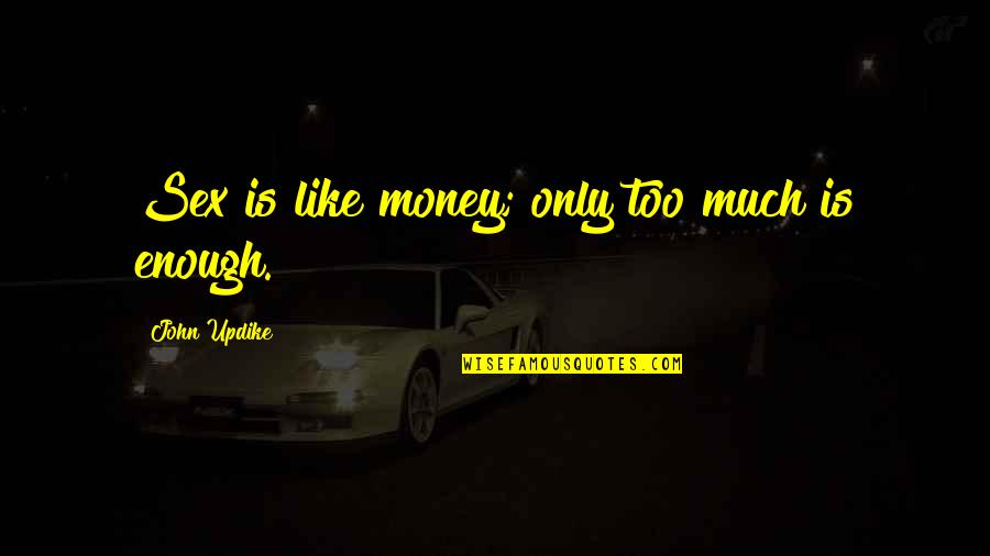 Too Much Power Quotes By John Updike: Sex is like money; only too much is
