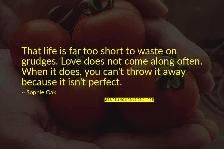 Too Often Quotes By Sophie Oak: That life is far too short to waste