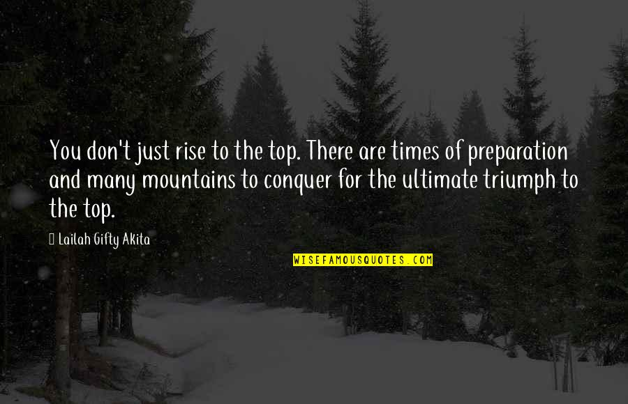 Top Of Quotes By Lailah Gifty Akita: You don't just rise to the top. There