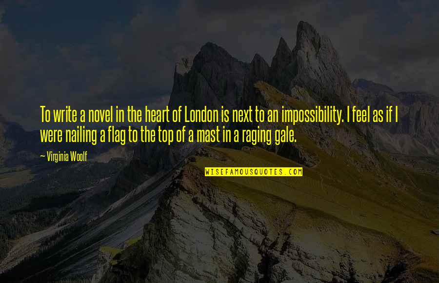 Top Of Quotes By Virginia Woolf: To write a novel in the heart of