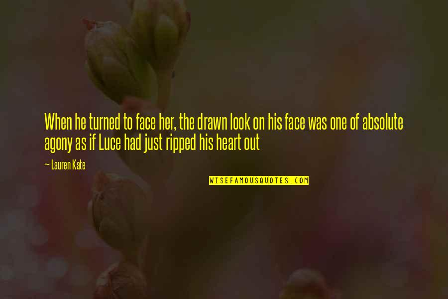 Torment Lauren Kate Quotes By Lauren Kate: When he turned to face her, the drawn