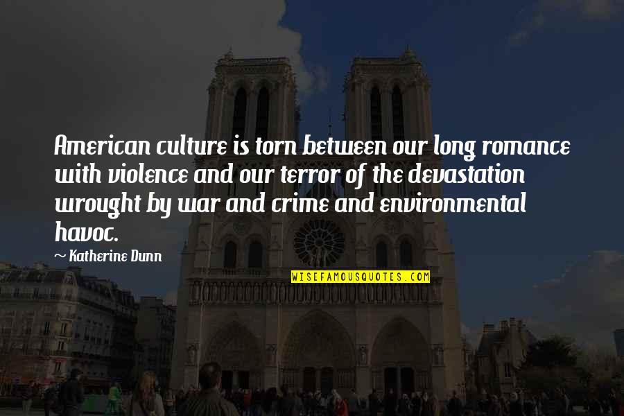Torn In Between Quotes By Katherine Dunn: American culture is torn between our long romance