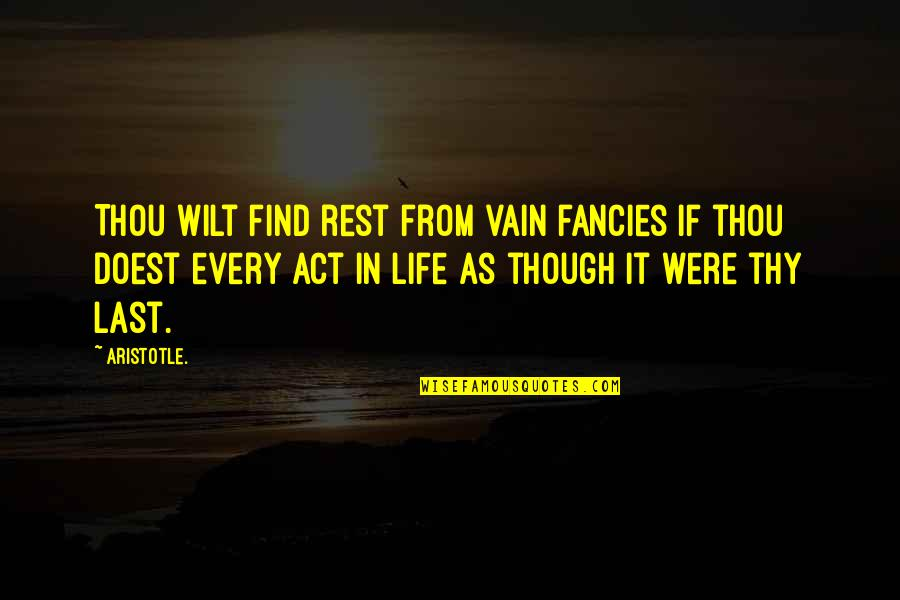 Toronto Exchange Real Time Quotes By Aristotle.: Thou wilt find rest from vain fancies if