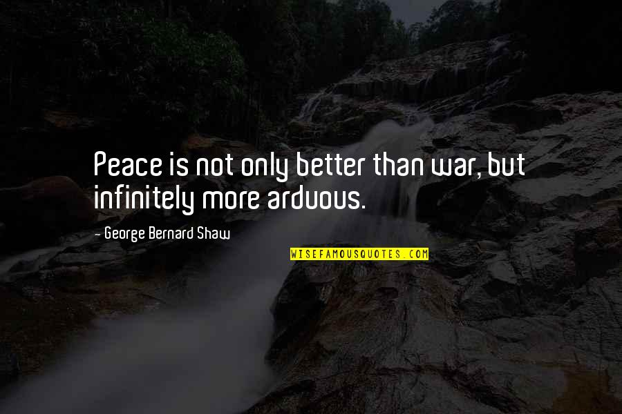 Toronto Venture Stock Exchange Quotes By George Bernard Shaw: Peace is not only better than war, but
