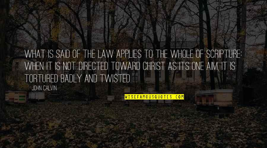 Tortured's Quotes By John Calvin: What is said of the law applies to