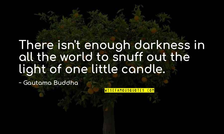 To'the Quotes By Gautama Buddha: There isn't enough darkness in all the world