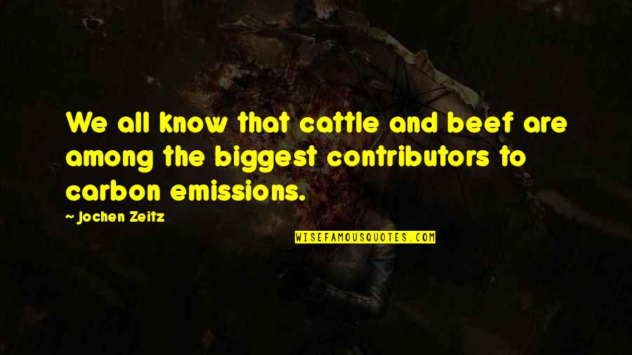 To'the Quotes By Jochen Zeitz: We all know that cattle and beef are