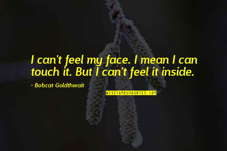 Touch My Face Quotes By Bobcat Goldthwait: I can't feel my face. I mean I