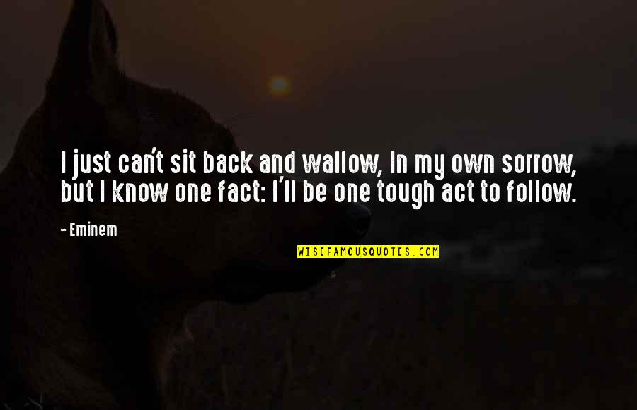 Tough One Quotes By Eminem: I just can't sit back and wallow, In