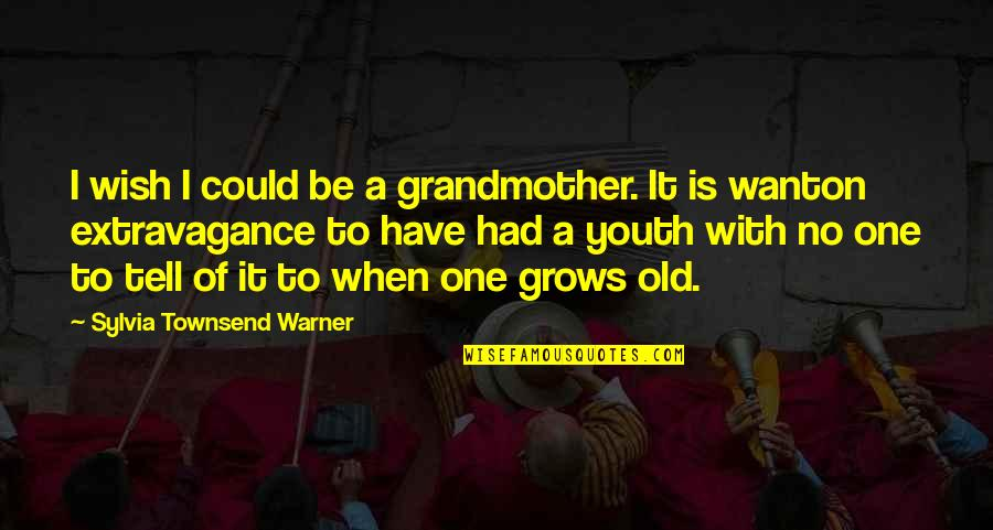 Townsend Quotes By Sylvia Townsend Warner: I wish I could be a grandmother. It