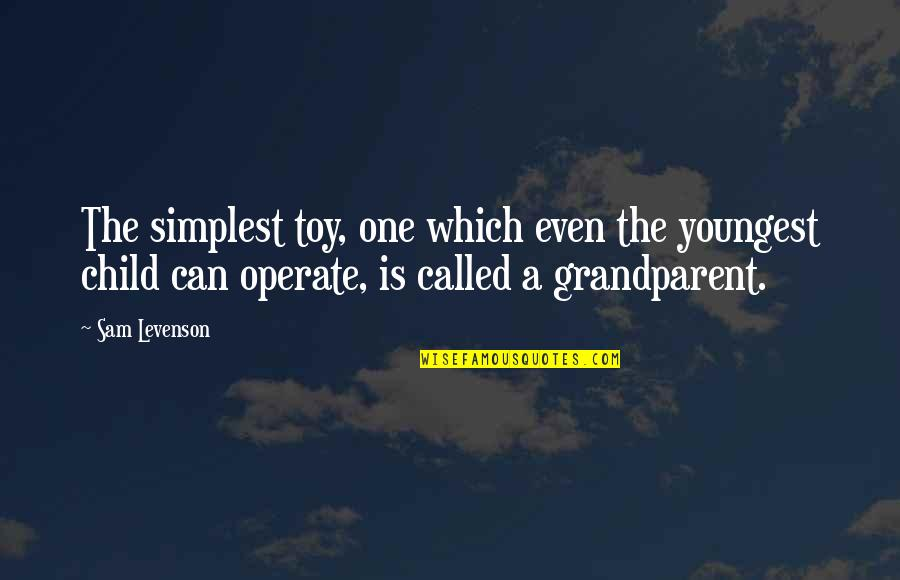 Toys And Children Quotes By Sam Levenson: The simplest toy, one which even the youngest