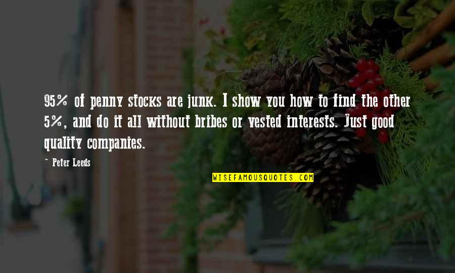 Trading Stocks Quotes By Peter Leeds: 95% of penny stocks are junk. I show