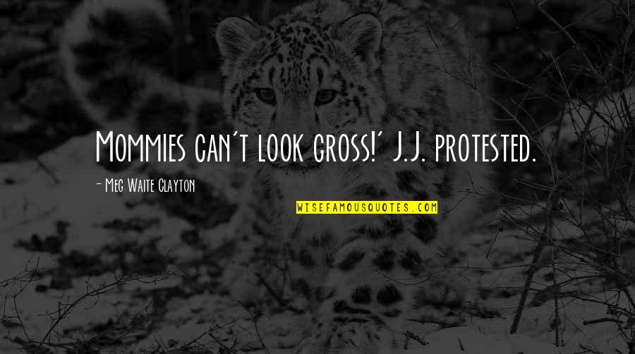 Tragic Incident Quotes By Meg Waite Clayton: Mommies can't look gross!' J.J. protested.