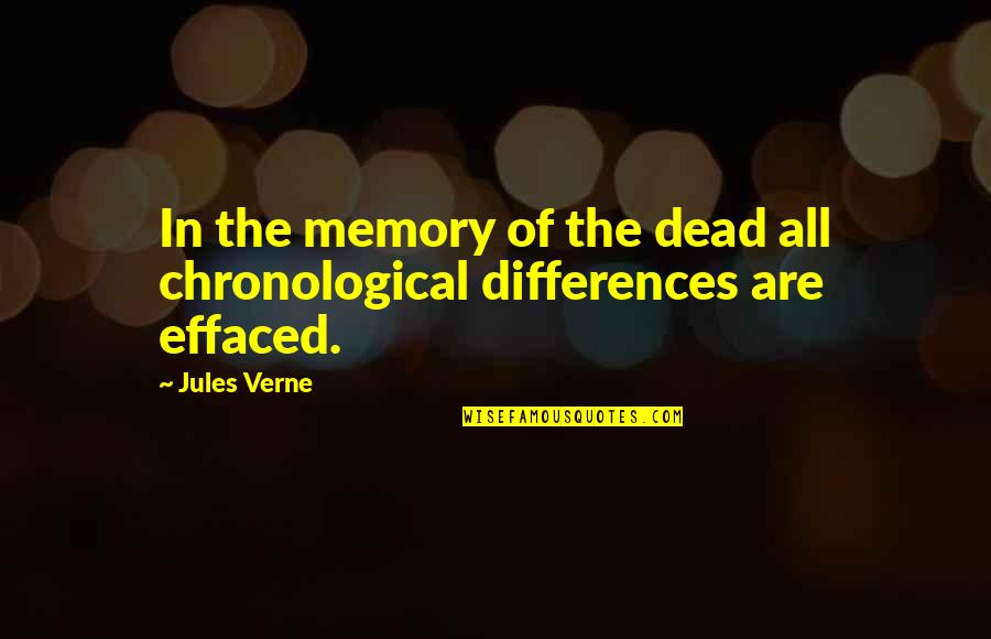 Tragos Quotes By Jules Verne: In the memory of the dead all chronological