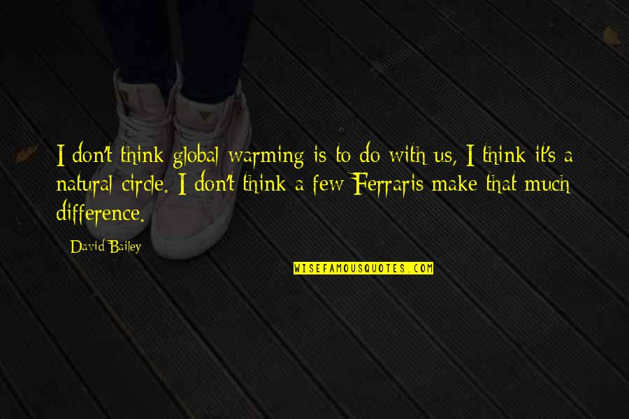 Transcontinental Quotes By David Bailey: I don't think global warming is to do