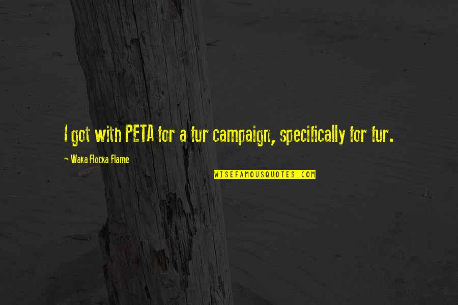 Transsexuality Quotes By Waka Flocka Flame: I got with PETA for a fur campaign,