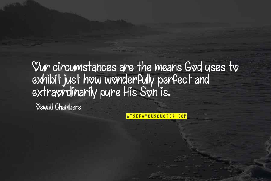 Travel Agencies Quotes By Oswald Chambers: Our circumstances are the means God uses to