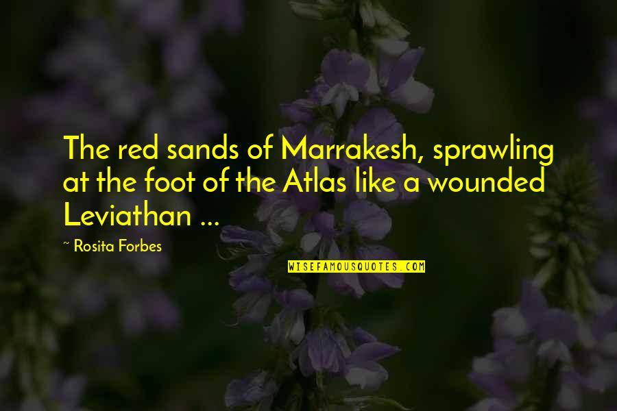 Travel Feet Quotes By Rosita Forbes: The red sands of Marrakesh, sprawling at the