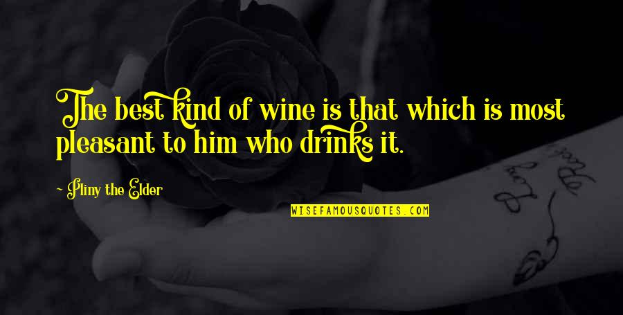 Travel In Your 20s Quotes By Pliny The Elder: The best kind of wine is that which