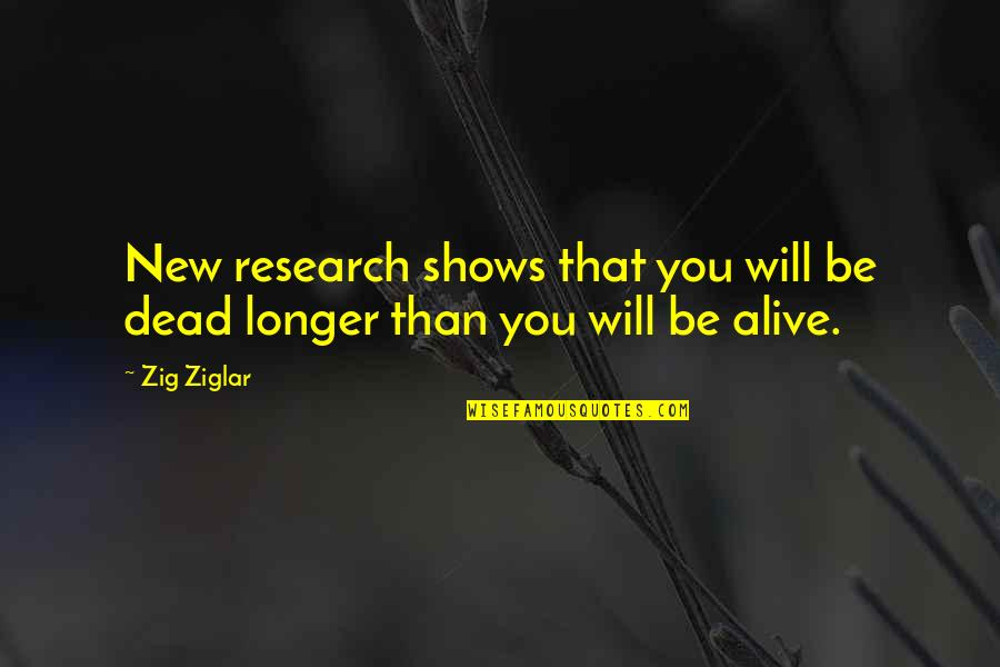 Travel In Your 20s Quotes By Zig Ziglar: New research shows that you will be dead