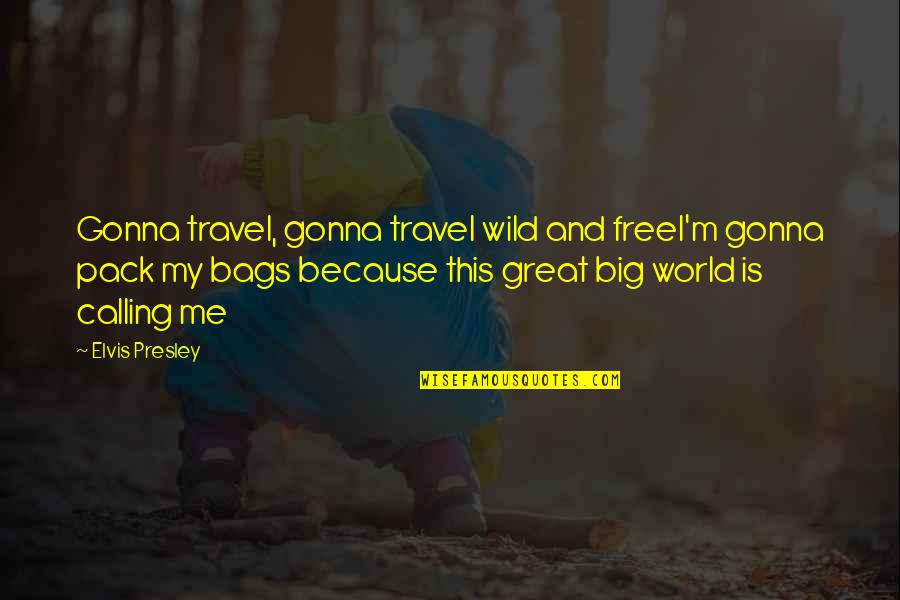 Travel The World With Me Quotes By Elvis Presley: Gonna travel, gonna travel wild and freeI'm gonna