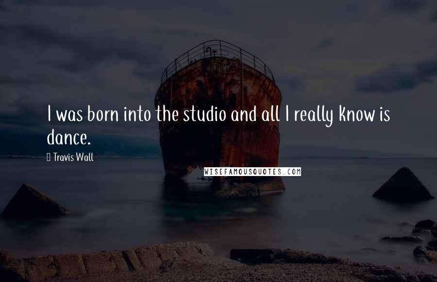 Travis Wall quotes: I was born into the studio and all I really know is dance.