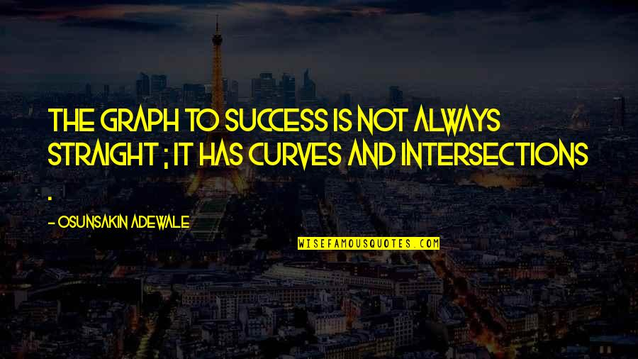 Treasure Island Short Quotes By Osunsakin Adewale: The graph to success is not always straight